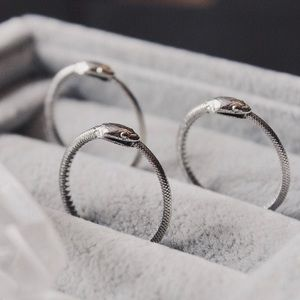 Jewelry - Sterling Silver Ouroboros Snake Ring Sz 6.5